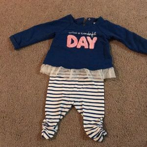 What A Wonderful day baby shirt and pant set
